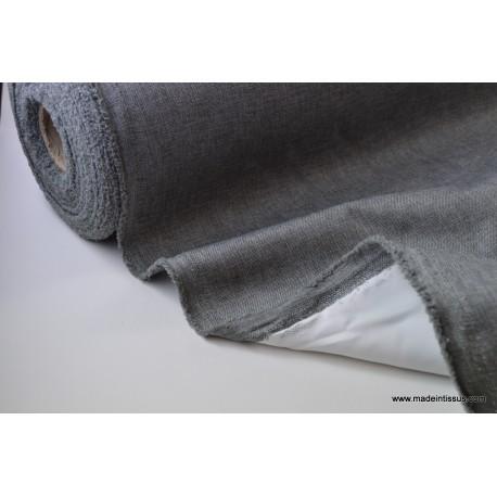Tissu occultant oxford gris anthracite x50cm made in tissus - Tissu gris anthracite ...