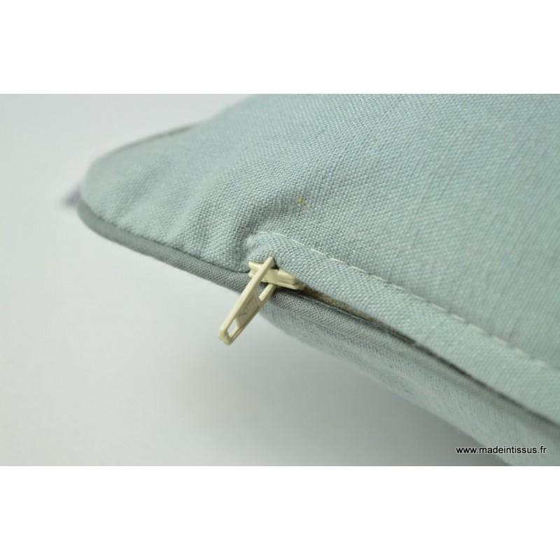 housse pour coussin 40x40 polyester lin coloris gris. Black Bedroom Furniture Sets. Home Design Ideas