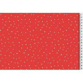 Tissu Viscose fluide pois rouges .x1m