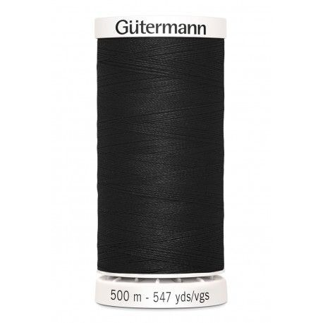 Fil pour tout coudre Gutermann 500 m - N°000 NOIR