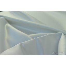 Satin duchesse polyester gris perle
