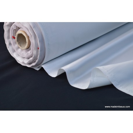 Satin duchesse polyester gris perle