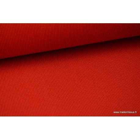 Tissu extérieur polypro fantaisie rouge