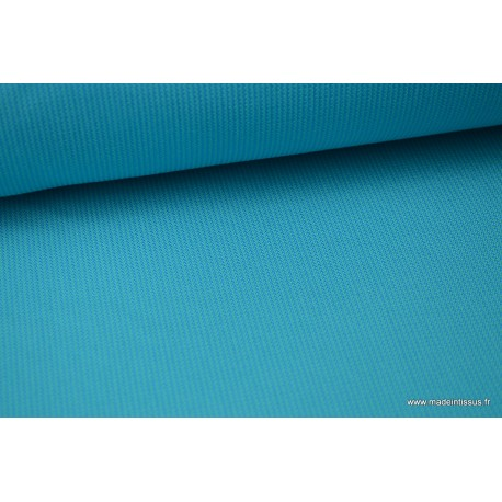 Tissu extérieur polypro fantaisie turquoise