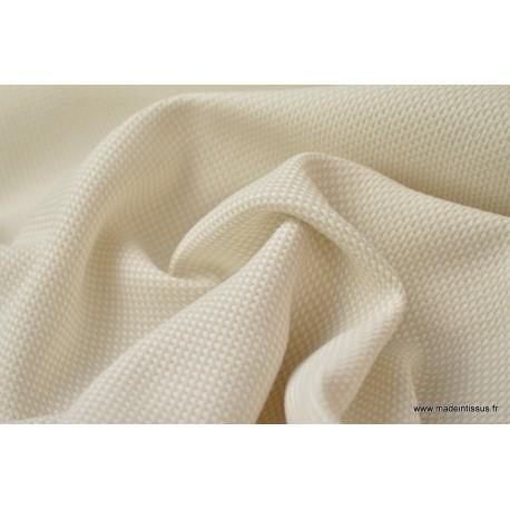 Tissu extérieur polypro natté blanc beige