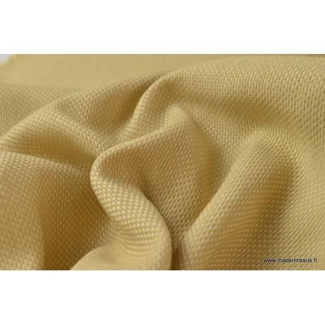 tissu d 39 ext rieur en polypro teint masse natt blanc pour coussins. Black Bedroom Furniture Sets. Home Design Ideas