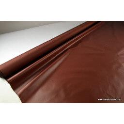 Tissu polyester marron cacao déperlant pour parapluie x50cm