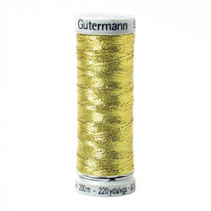 Fil Sulky Effet Metallic Gutermann 200 m - N°7004 Or foncé