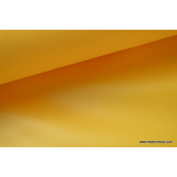 Tissu polyester jaune or déperlant pour parapluie x50cm