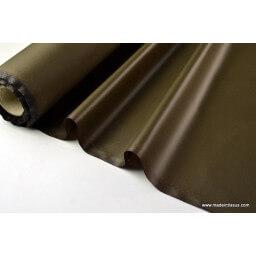 Tissu polyester kaki déperlant pour parapluie x50cm
