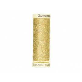 Fil METAL Gutermann 50 m - N°24 Or