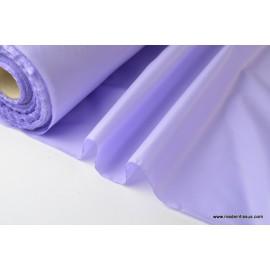 Tissu polyester parme déperlant pour parapluie .
