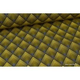 Cretonne coton imprimé patou or