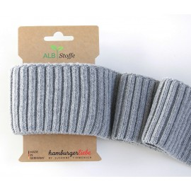 Embouts de manche coton bio gris clair 110x7cm