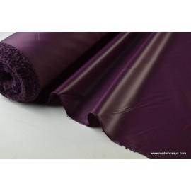 Tissu polyester prune déperlant pour parapluie x50cm