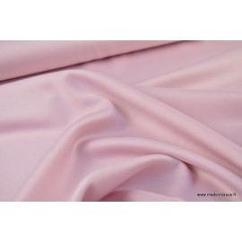 Tissu Satin microfibre fluide rose clair