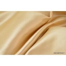 Satin duchesse  polyester beige camel
