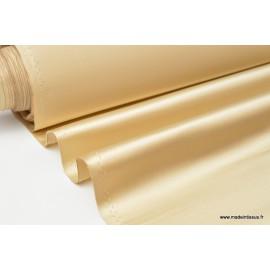 Tissu Satin duchesse polyester beige camel