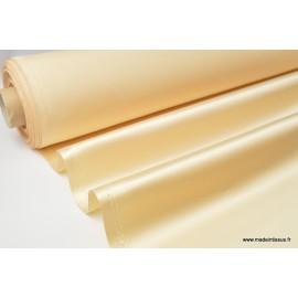 Tissu Satin duchesse polyester nougat
