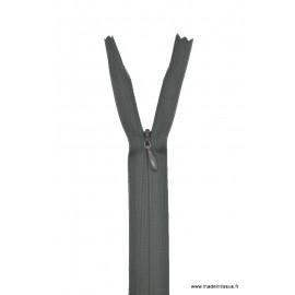 Fermeture éclair invisible en nylon Z41 col 450 Gris anthracite