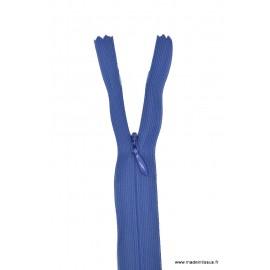 Fermeture éclair invisible en nylon Z41 col 550 Bleu Bugatti