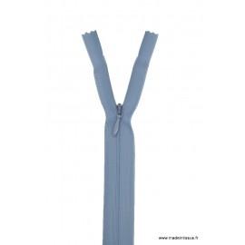 Fermeture éclair invisible en nylon Z41 col 533 Gris bleu