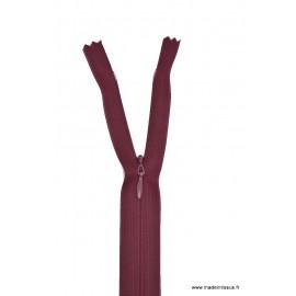 Fermeture éclair invisible en nylon Z41 col 870 Bordeaux