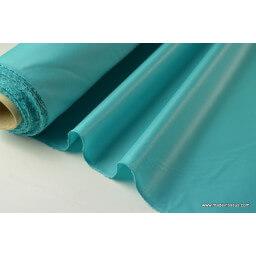 Tissu polyester turquoise déperlant pour parapluie x50cm