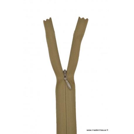 Fermeture éclair invisible en nylon Z41 col 953 beige foncé