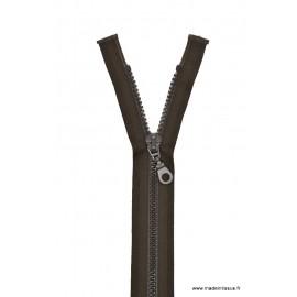 Fermeture éclair Séparable grosse maille 6mm Z54 col 990 Brou de Noix
