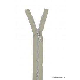 Fermeture éclair Séparable grosse maille 6mm Z54 col 432 gris clair