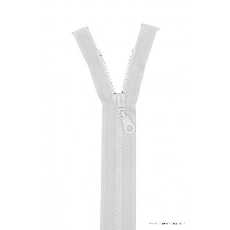 Fermeture éclair Séparable grosse maille 6mm Z54 col 400 Blanc