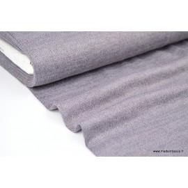 Maille tricoté gris Parme lurex polyester elasthanne  .x1m