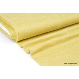 Maille tricoté Jaune lurex polyester elasthanne  .x1m
