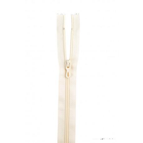 Fermeture éclair en nylon. H 10 cm. col 410 Blanc cassé