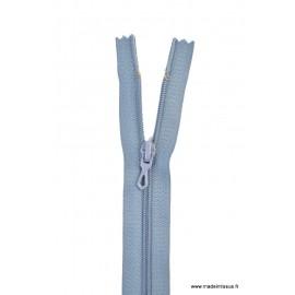 Fermeture éclair en nylon. col 533 Bleu Gris