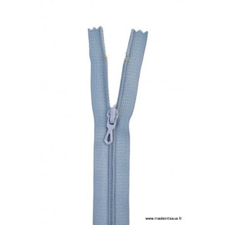 Fermeture éclair en nylon. H 10 cm. col 533 Bleu Gris