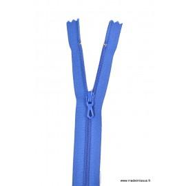 Fermeture éclair en nylon. col 540 Bleu Drapeau