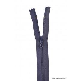 Fermeture éclair en nylon. col 570 Bleu Marine