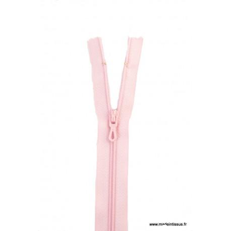 Fermeture éclair en nylon. H 10 cm. col 805 Rose layette