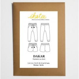 Patron Pantalon Short Fille Ikatee DAKAR du 3 au 12 ans