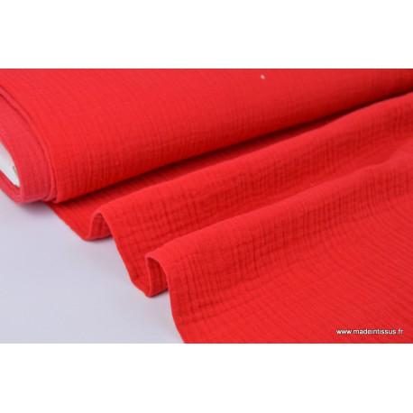 Double gaze 100% coton rouge.