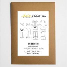 Patron Combi-short, combi pantalon ou robe MARIEKE by Ikatee pour fille du 3 au 12 ans