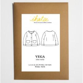 Patron Gilet mixte VEGA by Ikatee pour bébé du 1 mois au 4 ans