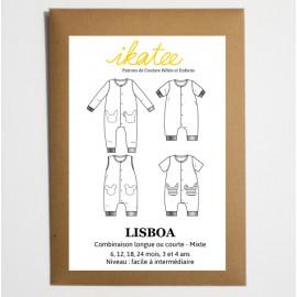 Patron Combinaison mixte LISBOA by Ikatee pour bébé du 1 mois au 4 ans