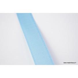 Velcro 20mm male + femelle bleu clair 0413