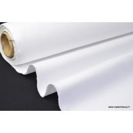 Tissu sergé coton lourd BLANC  300gr/m²