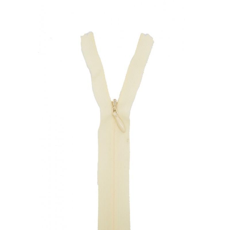 fermeture clair nylon extra fine et invisible z41 410 blanc cass. Black Bedroom Furniture Sets. Home Design Ideas
