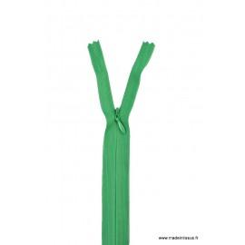 Fermeture éclair invisible en nylon Z41 col 721 Vert Emeraude