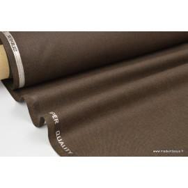 Tissu gabardine costume et confection marron chiné